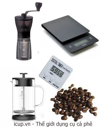 Những dụng cụ quan trọng để pha cà phê french Press