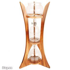 Bộ pha cà phê lạnh khung gỗ vintage Gater BD-110 dung tích 1000ml