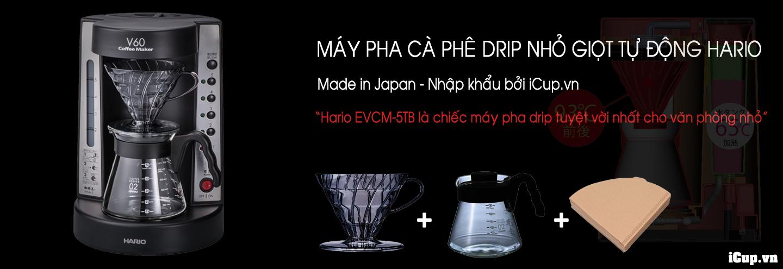 Máy pha cà phê nhỏ giọt tự động EVCM-5 Nhật Bản