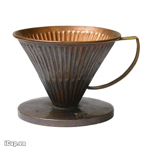 Phễu cà phê bằng đồng Vintage V60 Copper Hammer size 02 - Hàn Quốc