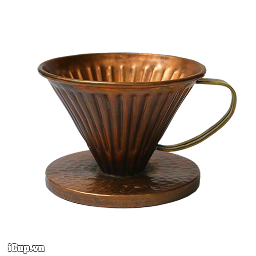 Phễu lọc cafe V60 Copper Hammer size 01 - Made in Indonesia