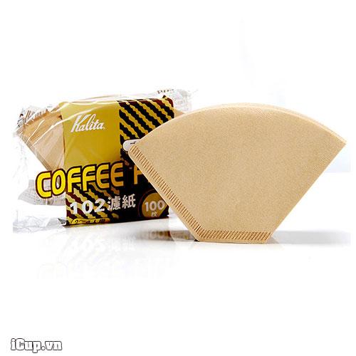 Bịch 100 giấy lọc cafe Kalita size 102 sản xuất tại Nhật