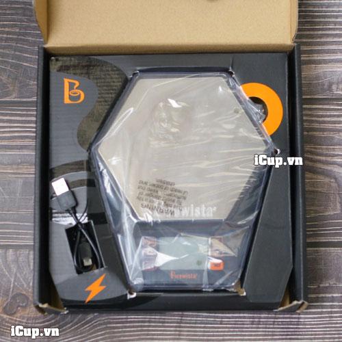 Full box cân điện tử Brewista Ratio có kèm cáp sạc