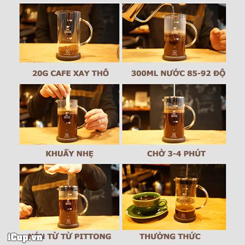 Hướng dẫn pha cà phê bằng bình french press đơn giản