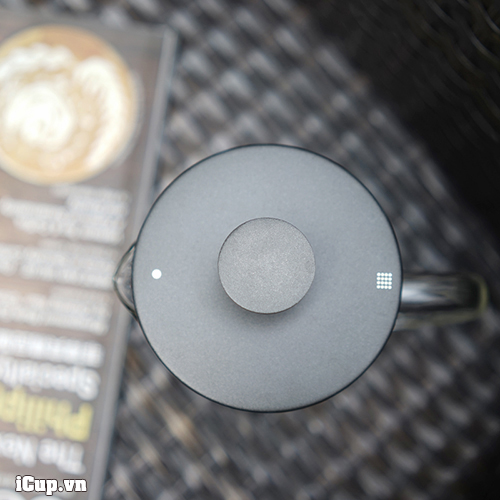 Nắp pittong có đánh dấu 2 đầu lọc trà và cà phê