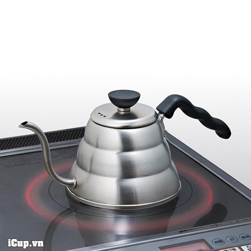 Ấm Hario Buono sử dụng trên mọi loại bếp Từ, gas, hồng ngoại, điện...