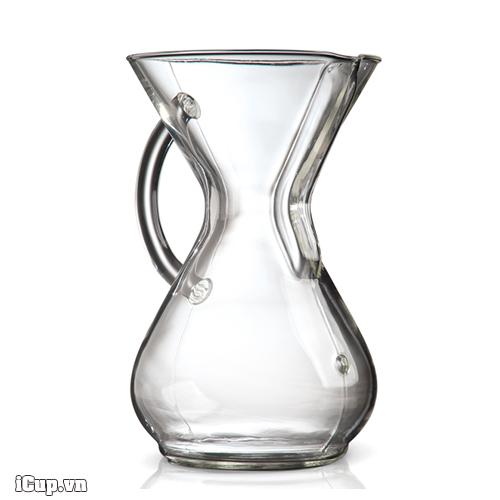 Bình pha cà phê chemex 6 cup thủy tinh