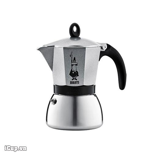 Ấm pha cà phê Bialetti Moka Induction 6 cup màu xám