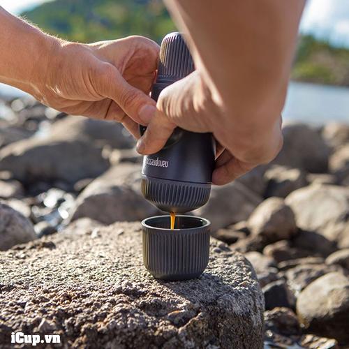 Dụng cụ pha cà phê di động, đi chơi, đi biển NanoPresso