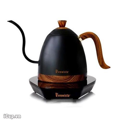 Ấm đun và rót Pour Over Brewista Artisan đen mờ 600ml