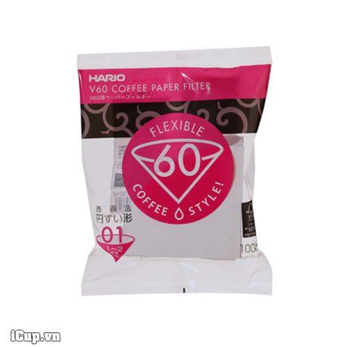Giấy lọc cà phê Hario V60 VCF-01-100W