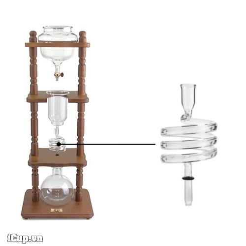Phụ kiện ống xoắn thủy tinh của tháp pha cà phê lạnh yama 8 cup