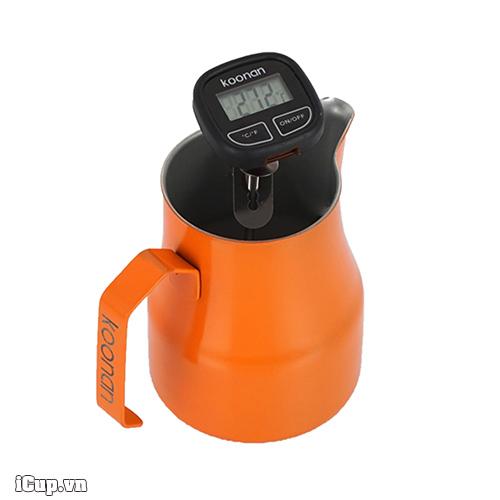 Đồng hồ Koonan đo nhiệt độ sữa pha latte, capuccino