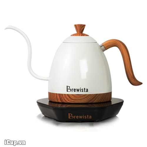 Ấm điện tử Brewista Artisan trắng - Ấm Drip chuyên dụng của barista