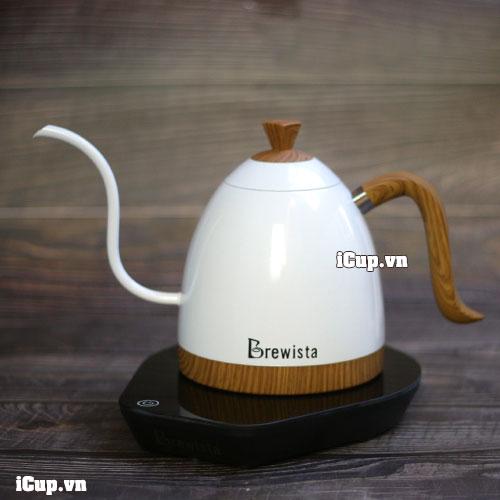 Ấm điện tử Brewista Artisan trắng ngọc trai 600ml - chiếc ấm trang nhã nhất trong dòng ấm drip