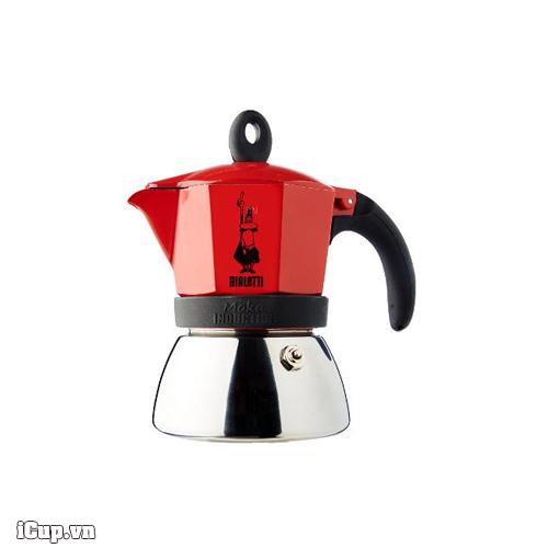 Ấm cafe Moka Bialetti Induction 3 cup màu đỏ