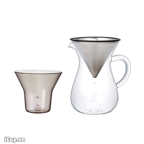 Bộ pha cà phê Drip phễu kim loại Kinto 300ml - Slow Coffee Style
