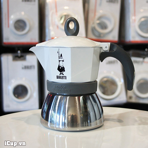 Bialetti Moka Induction 3 cup - white