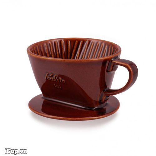 Ceramic coffee dripper Kalita 101 Brown