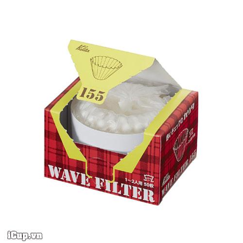 Giấy lọc cafe Nhật Bản Kalita Wave 155 màu trắng – Hộp 50 tờ
