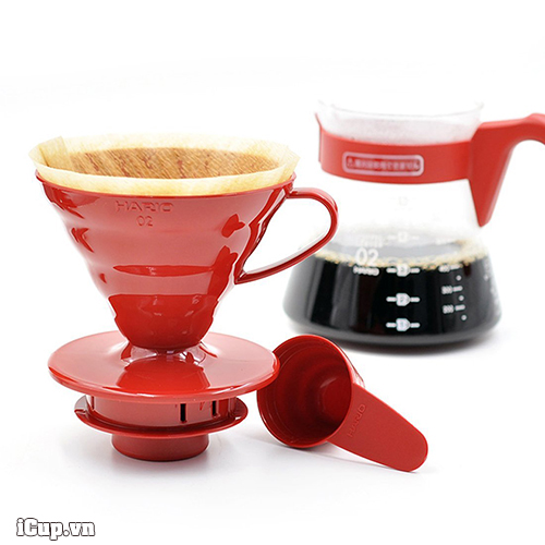 Hario VCSD 02R-Piece Plastic Coffee Sever Set