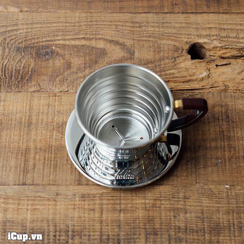 Phễu kalita wave 155 với thiết kế nhỏ gọn, pha được tối đa 25g cà phê cho 1 lần