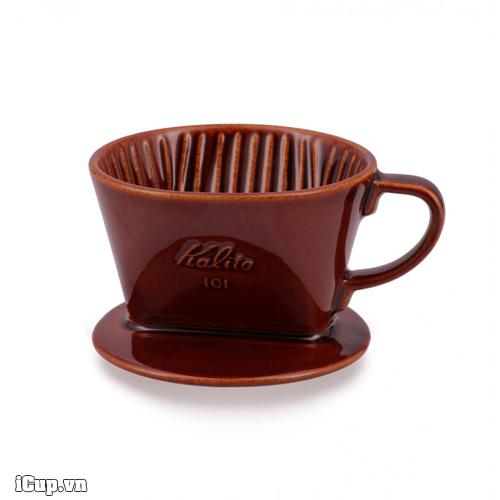 Phễu lọc cafe gốm nâu Kalita 101 - Japan