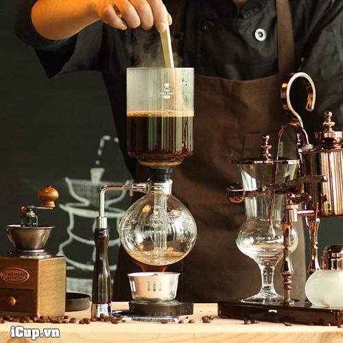 Pha cà phê với syphon Time More