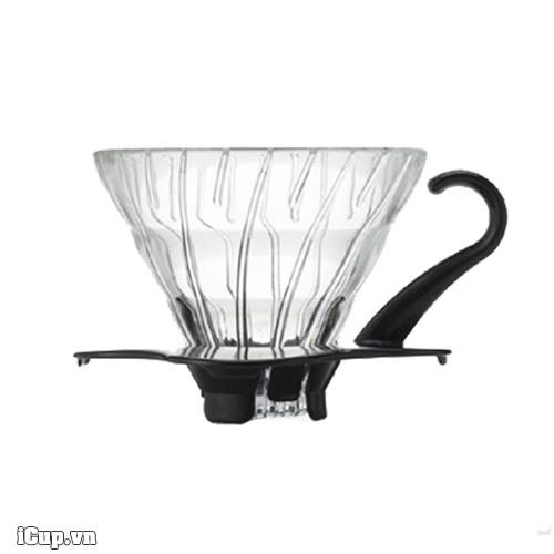 Phễu lọc cà phê Hario V60 thủy tinh VDG-01B version 2.0 - Made in Japan
