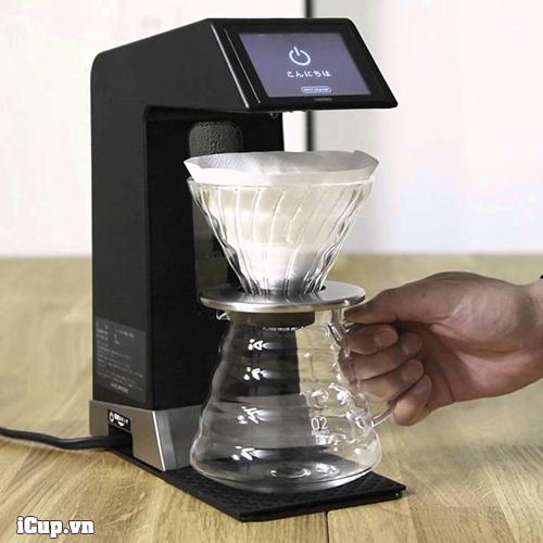 Máy pha cà phê Hario Smart 7 đi kèm 1 server thủy tinh và 1 phễu thủy tinh