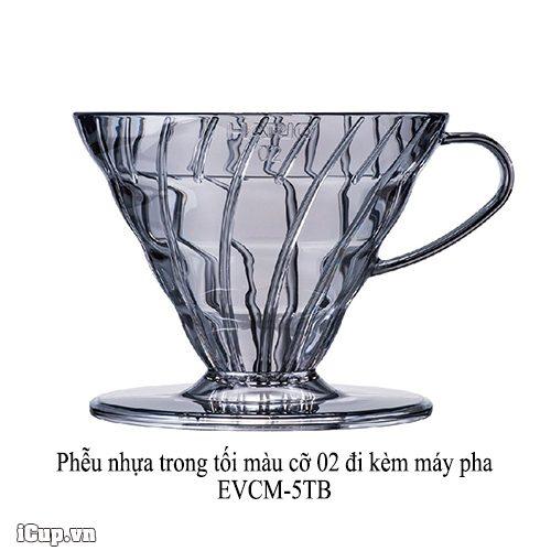Phễu nhựa Hario 02 đi kèm máy pha cà phê hario EVCM-5TB