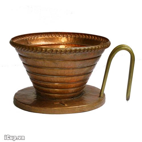 Phễu cà phê làm thủ công bằng đồng đỏ Hammer Wave Copper 185 – Korea (Hàn Quốc)