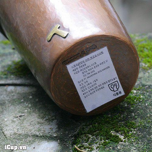 Đáy cốc đồng Hammer 500ml có tem truy xuất nguồn gốc rõ ràng - Made in Indonesia