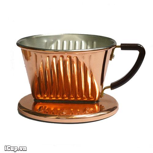 Phễu lọc cà phê đồng Kalita Copper 101 - Japan