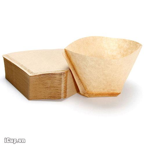 Tập 100 tờ giấy lọc cà phê Kalita màu nâu sze 102