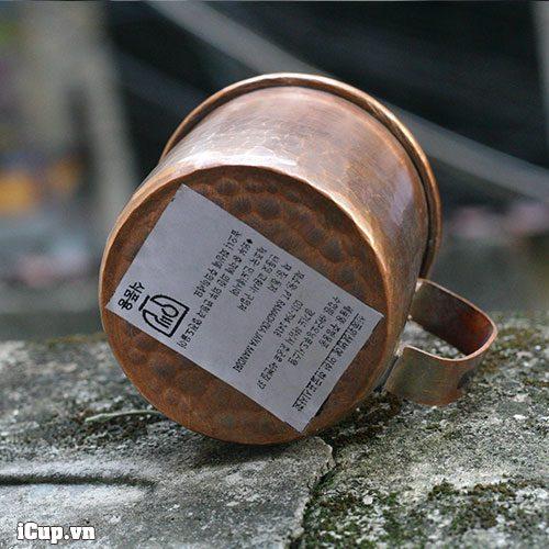 Tem dán truy nguồn gốc xuất xứ của cốc uống cà phê bằng đồng hammer 150ml