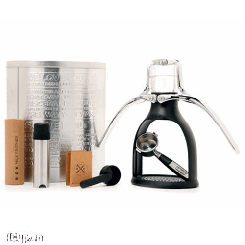 Máy pha cà phê nén bằng tay ROK Espresso bản đen mờ - UK