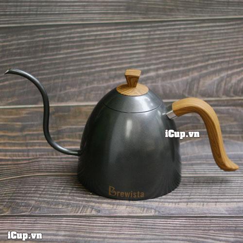 Ấm rót Drip cổ ngỗng Brewista Artisan 700ml – Màu đen xám