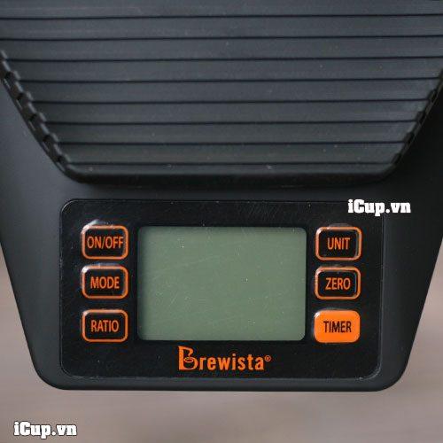 6 nút bấm chức năng trên cân điện tử Brewista Ratio