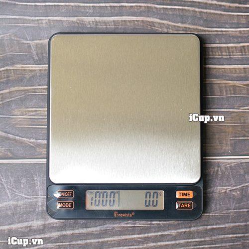 Brewista Smart Scale II với bề mặt kim loại sáng bóng bền bỉ