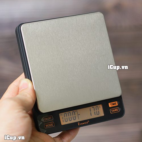 Trên tay chiếc cân điện tử siêu nhỏ gọn Brewista Smart II dành cho quán cà phê chuyên nghiệp