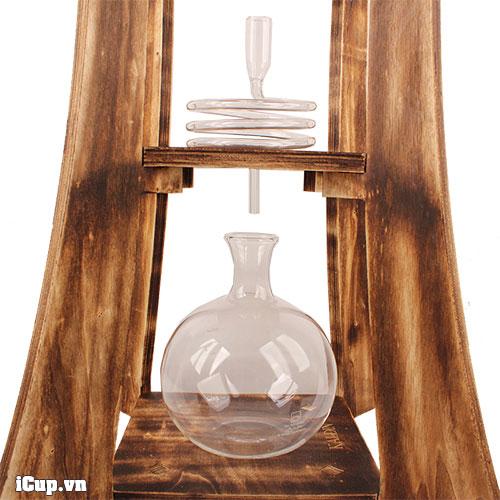Chi tiết bộ pha cà phê nước lạnh khung gỗ