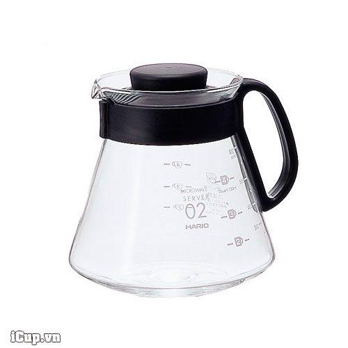 Bình đựng trà và cà phê 600ml Microwave Hario XVD-60B Japan