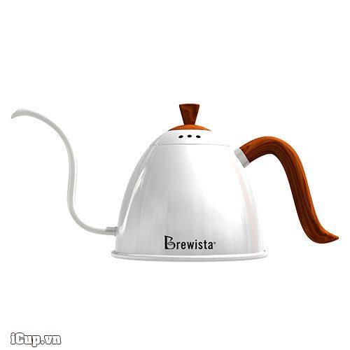 Ấm rót pour over cổ ngỗng Brewista Artisan Pro 700ml - Màu trắng bóng