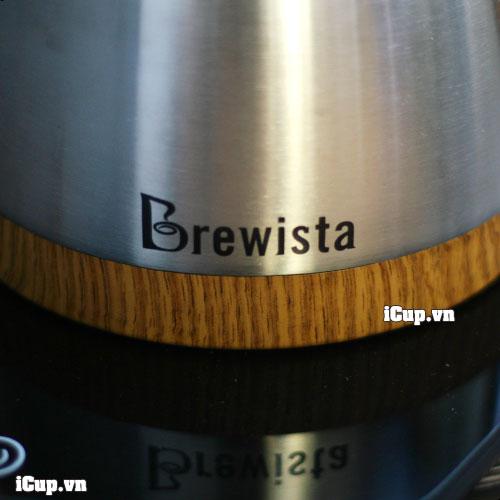 Logo Brewista in trên cả 2 mặt của ấm rót drip