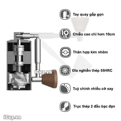 Đặc tính máy nghiền cafe tay Timemore nano