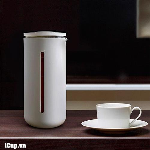 Bình pha cà phê Frenchpress Timemore U màu trắng