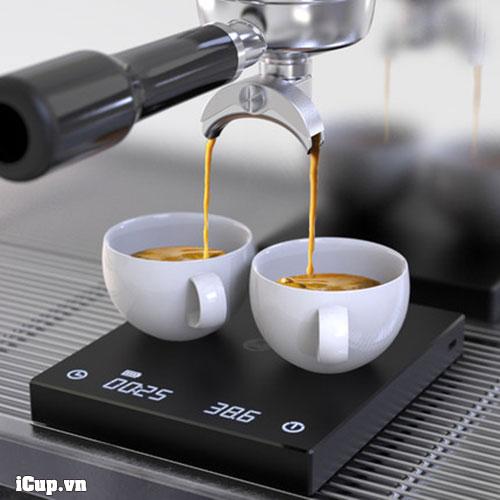 Cân điện tử Timemore Basic phù hợp với khay máy espresso