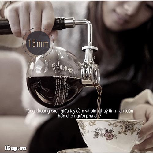 Thiết kế mới an toàn hơn khi pha cà phê với syphon Timemore 2.0