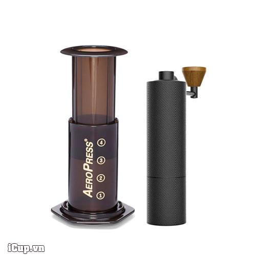Aeropress và máy xay cà phê tay Timemore Slim - Combo 02 du lịch